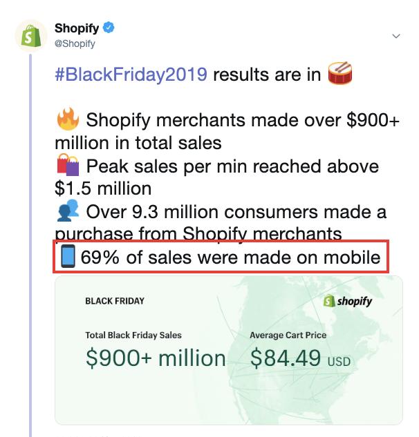 Shopify Tweet Screenshot