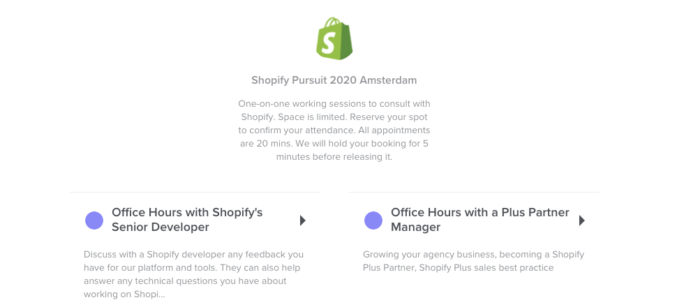 Shopify 1 on 1 meetings