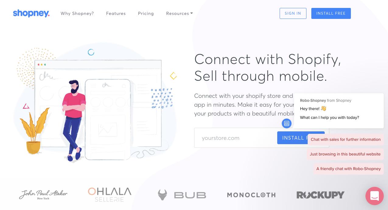 mobile app builder - chatbot