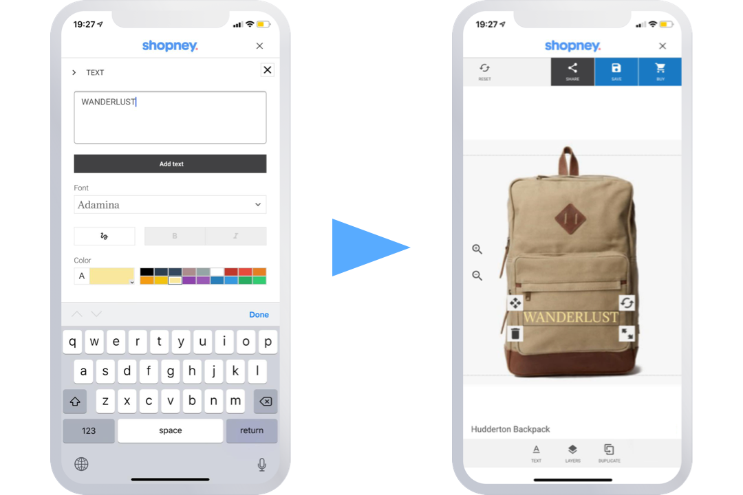 product customization in native Shopify mobile apps