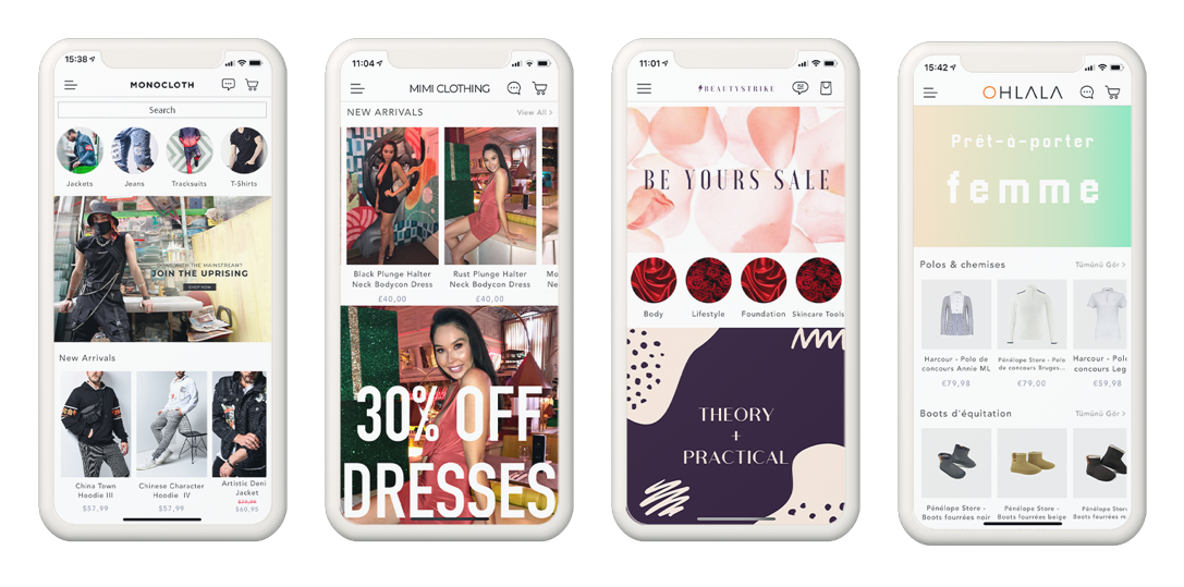 native iOS and Android mobile apps for Shopify