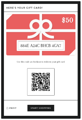 shopify gift card