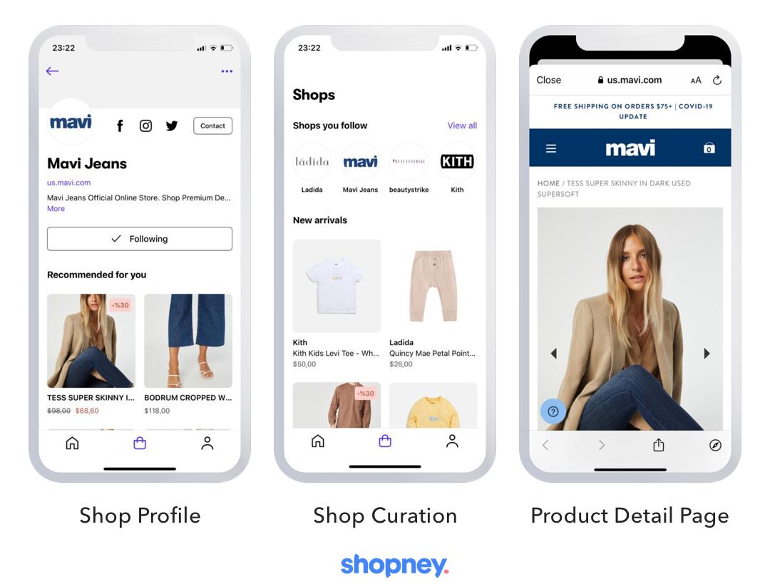 shopify shop mobile app