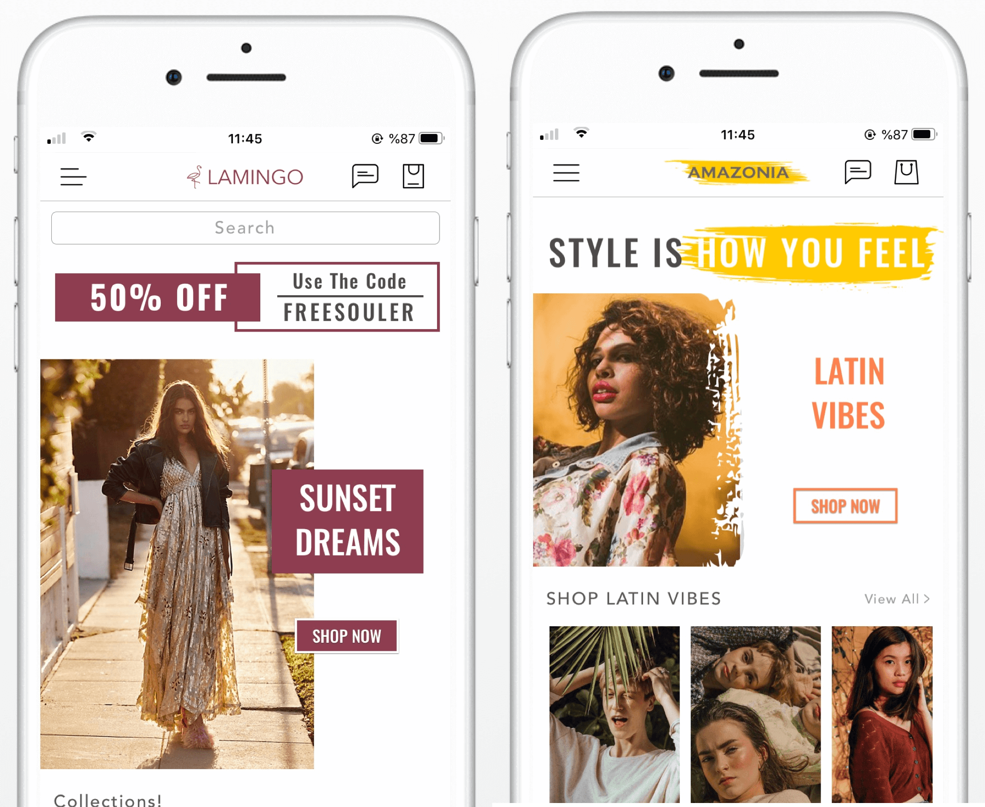 shopify mobile app design examples