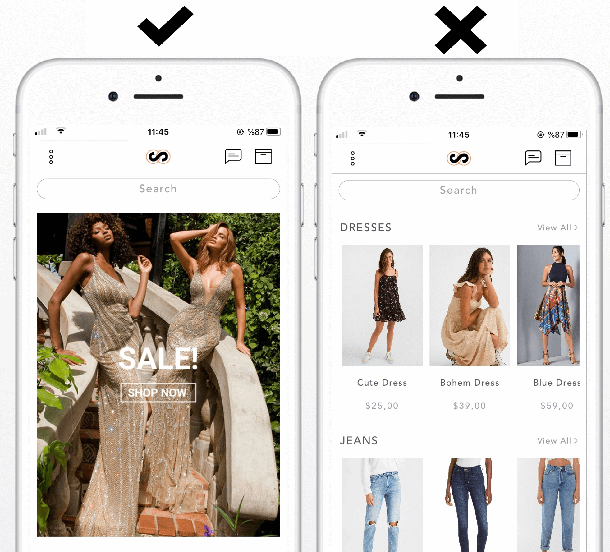 shopify mobile app design