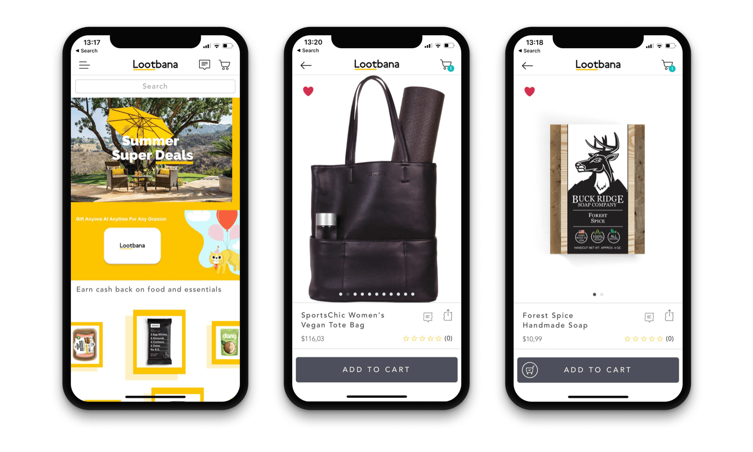 Lootbana Mobile App Design - Shopify mobile app