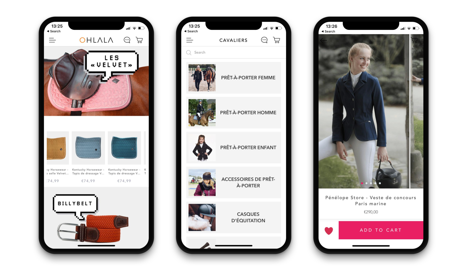 Ohlala Sellerie Native iOS & Android App Design