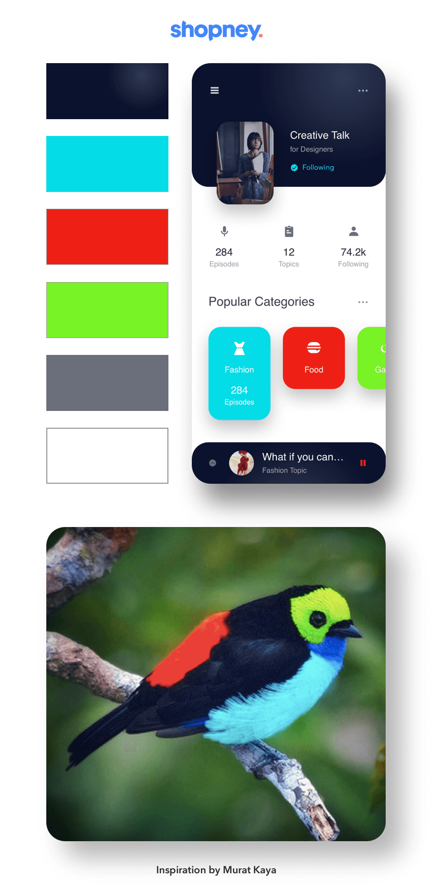 Nature inspired interface design example