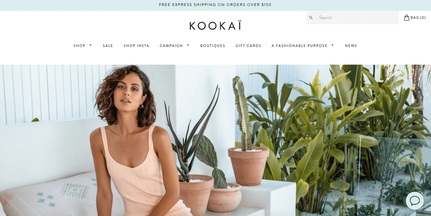 kookai.com.au website